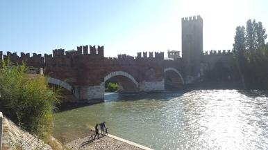 spanned by the Castelvecchio Bridge.